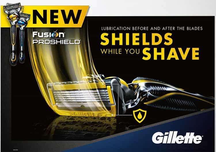 Gillette Fusion Key Visual