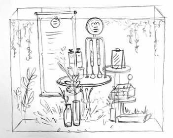 Herbal-Essences-Window-Display-sketch-3.