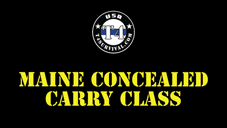 Maine Concealed Carry Permit Class
