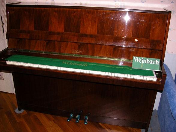 Пианино Weinbach 115, 1989 год, бархатный звук, настроено 440Гц  почти не играли, дека точно целая, состояние нового инструмента!  Пианино Вайнбах 115 б/у с паспортом.  Дорогое пианино за 1/3 цены нового пианино