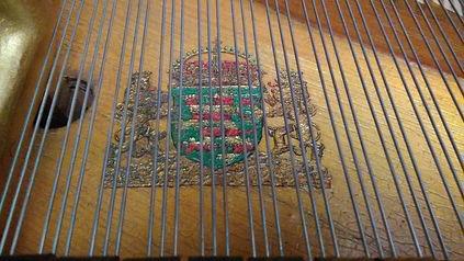 Целая декакабинетного (комнатного) рояля Ed. Seiler (Эд. Зайлер), трещины отсутствуют, струны родные