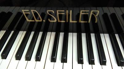 КлавиатуракабинетногорояляSeiler производства Германии, 88 клавиш слоновой кости, инкрустация букв