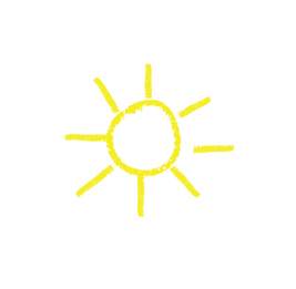 Crayon Drawing of the Sun