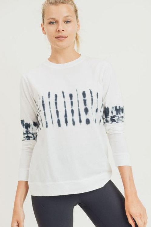 Tie-Dye Center Cotton Pullover