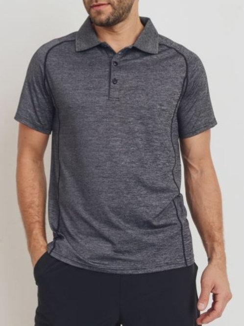 Mock Raglan Golf Shirt with Side Panels