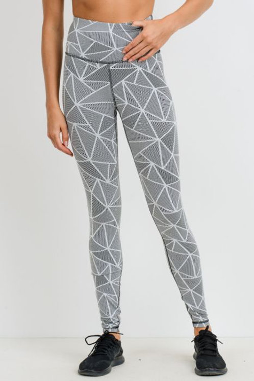 Jacquard Mosaic Print Highwaist Leggings