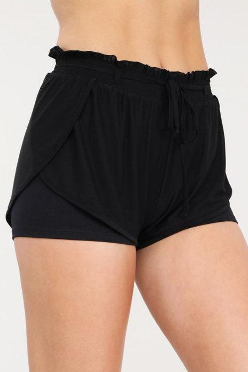 Dolphin Mesh Shorts with Highwaist Inner Lining