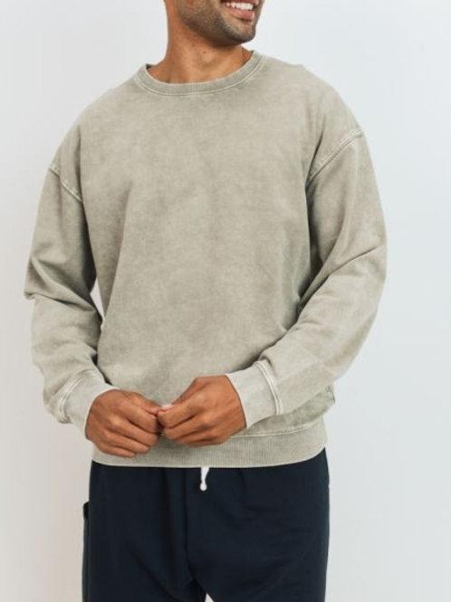Mineral Wash Cotton Pullover