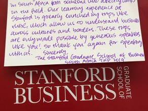 Danny Saksenberg gave a talk to the visiting MBA class from the Stanford University Graduate School