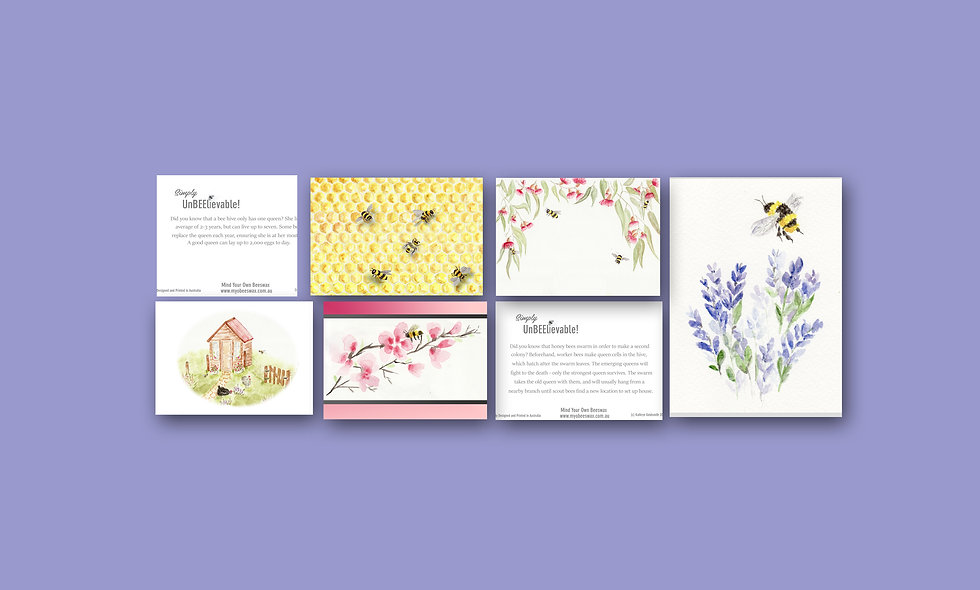 Watercolour Design Card Set