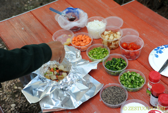 Click on the image for the source and more pictures of how to make Hobo Stew