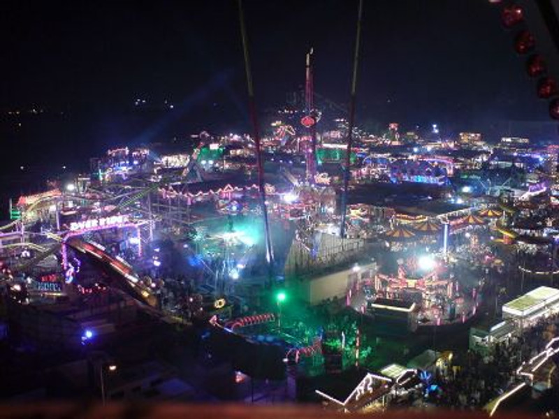 A photo of Hull Fair taken on Friday 13th October 2006 from the top of the 'Big Wheel'. Reginald Herring.