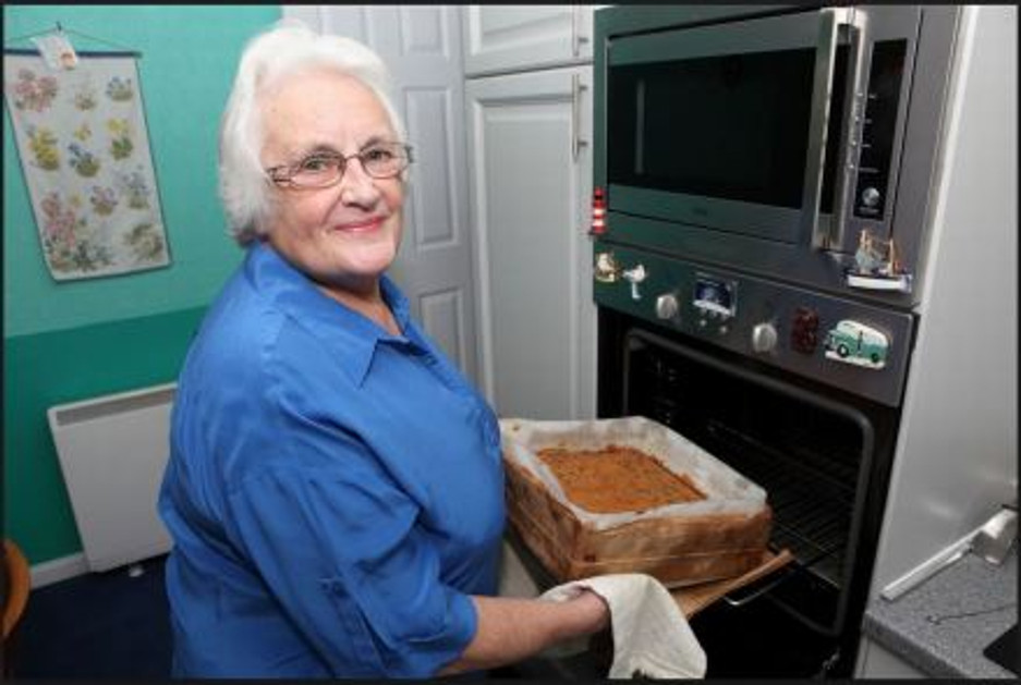 Patricia Tulip, one of the cake bakers.