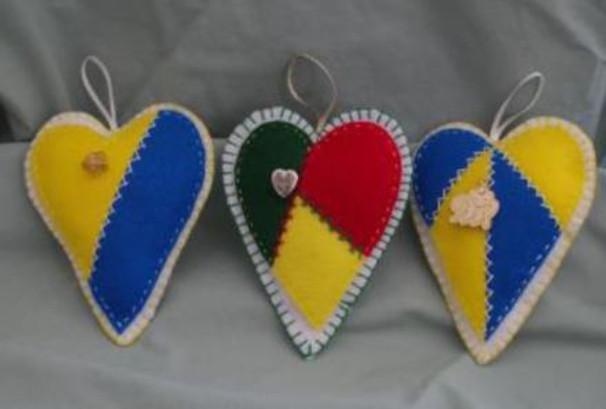SK heart pin cushion craft