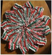 Star knit dish cloth