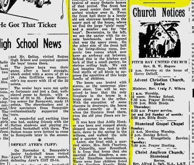 Scrapbook: The Stanstead Journal Thursday November 19, 1959