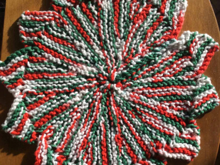 Knitted Star Dishcloth