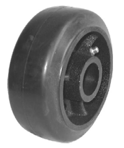 Rubber on Cast Iron Wheel