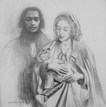 Study for New Born Christ at the Temple