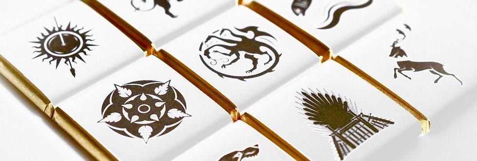 Game of Thrones Adventskalender Schokolade - inspiriert - Vollmilch je 7g