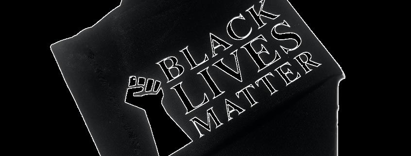 Mundschutz mit Aufdruck - BLACK LIVES MATTER