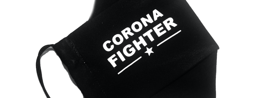 Mundschutz mit Aufdruck - Corona Fighter