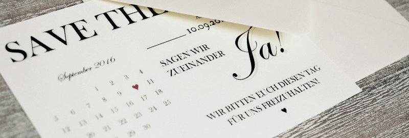 Save the Date - Wir sagen JA