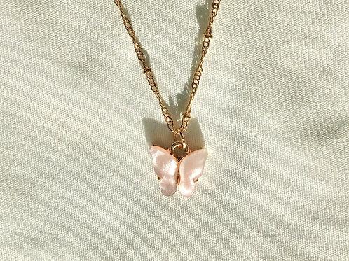 Mariposa Rosa Dainty Necklace