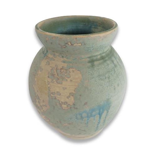 Mottled Blue Vase (Stoneware)
