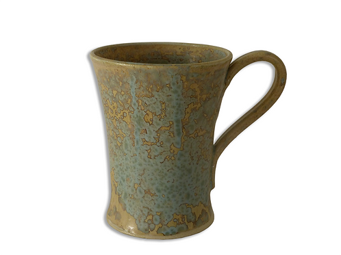 Mottled Blue Coffee Cup (Stoneware)