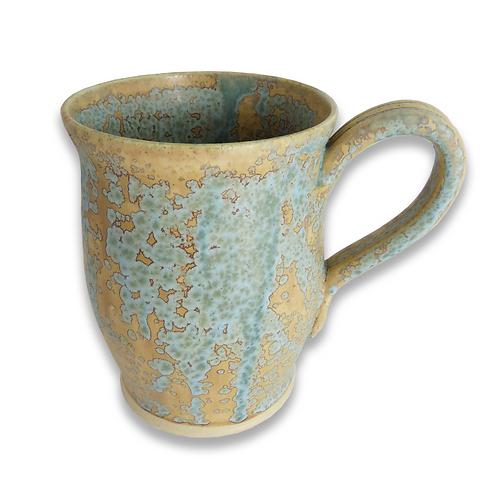 Mottled Blue Stoneware mug