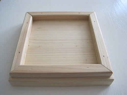Square wooden plinth sample