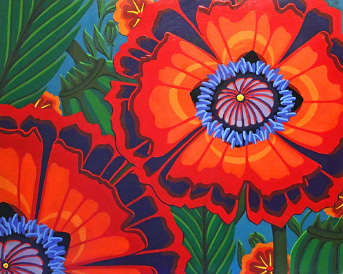 wild poppies print
