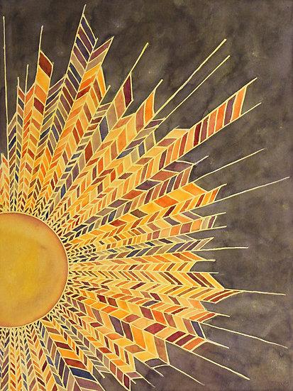 sunburst print