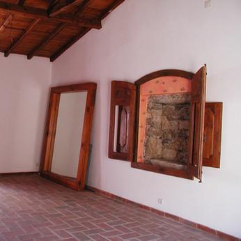 Espelho e portas de altar . Janas . 2002