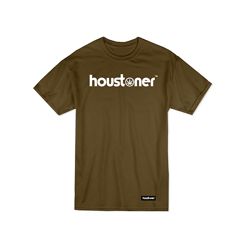 Olive Green Houstoner T Shirt Front View