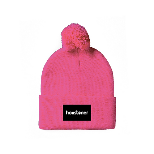 Hot Pink houstoner™ Beanie Front View