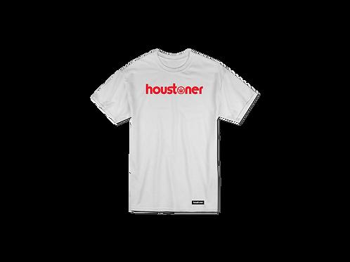 """houstoner """"RED ON WHITE"""" T - S h i r t"""