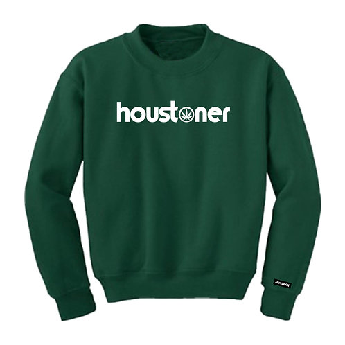 "houstoner™ ""FOREST GREEN""  S W E A T S H I R T"