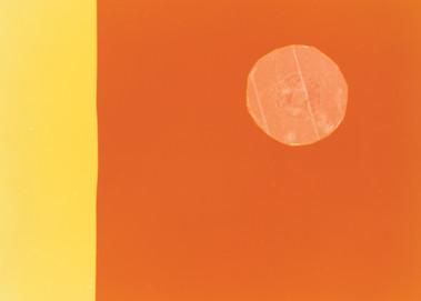 Kreis auf Orange