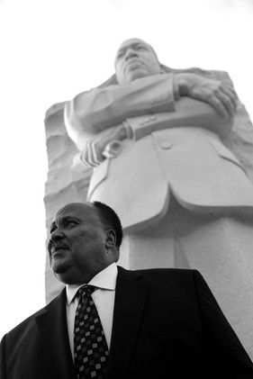 Martin Luther King III at Martin Luther King, Jr. Memorial
