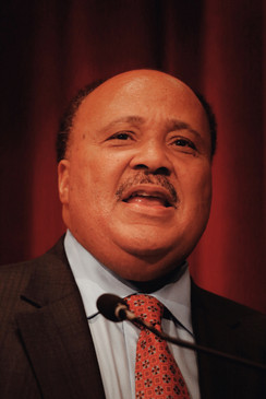 Martin Luther King III at the National Cathedral