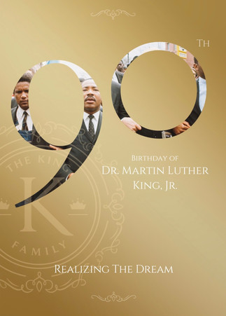 Graphic Design, Official Dr. King 90th Birthday Card sent to Members of Congress