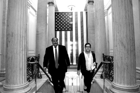 Martin Luther King III and Senator's Aid at Capitol Hill