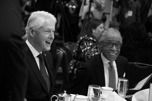 President Clinton and Rev. Al Sharpton