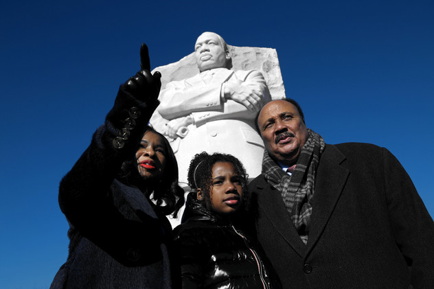 King Family at Martin Luther King, Jr. Memorial