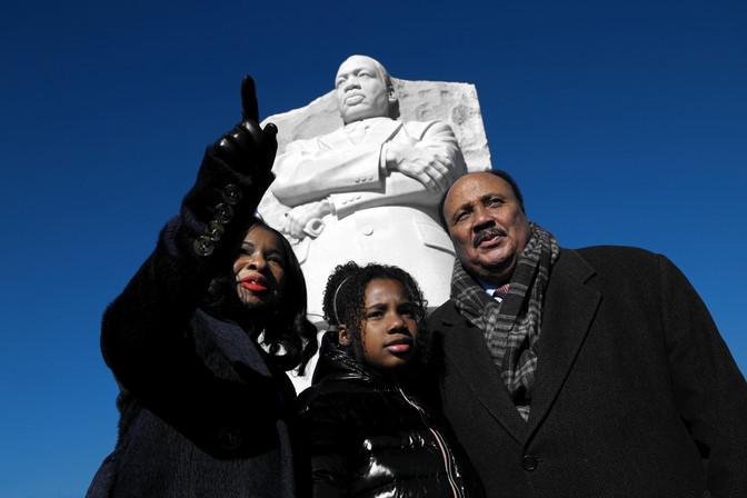 King Family at Martin Luther King, Jr. Memorial