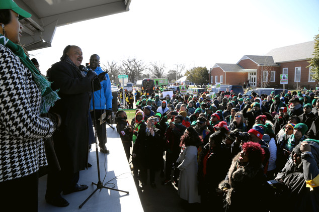 King suprises small town crowd on MLK Day 2020