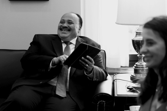 Martin Luther King III at Senator Jones' office