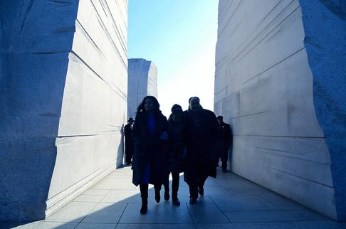 King Family leaving Martin Luther King, Jr. Memorial